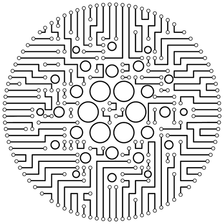 Cardano - cryptocurrency coin. Vector thin line design single isolated icon. Lineart illustration on white background Stok Fotoğraf - 123523240