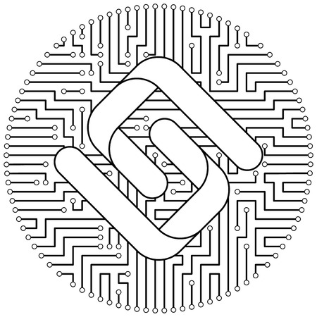 Pirl - cryptocurrency coin. Vector thin line design single isolated icon. Lineart illustration on white background Stok Fotoğraf - 123523242