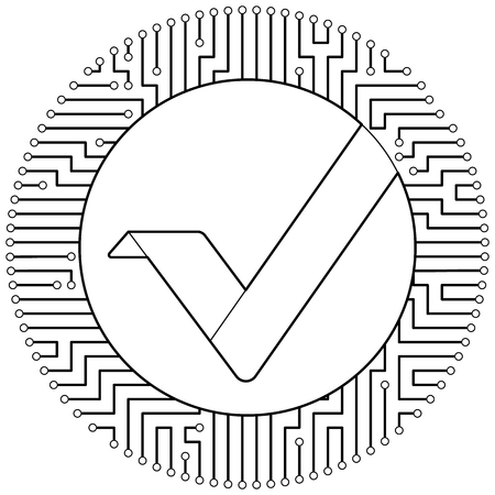 Vertcoin - cryptocurrency coin. Vector thin line design single isolated icon. Lineart illustration on white background
