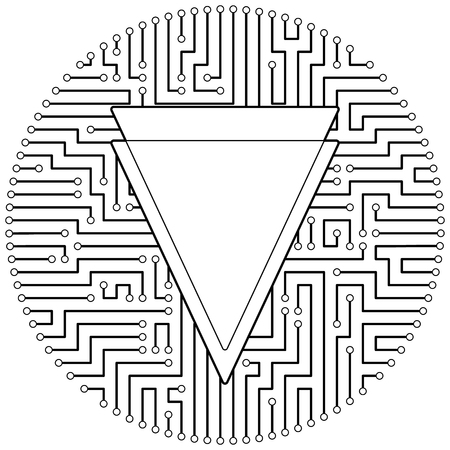 Verge - cryptocurrency coin. Vector thin line design single isolated icon. Lineart illustration on white background Stok Fotoğraf - 123523247