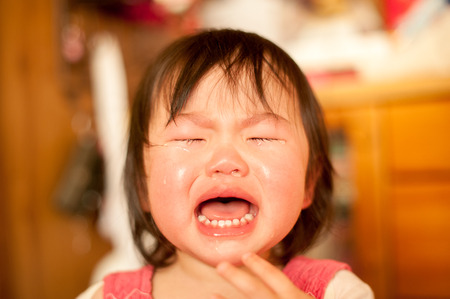 泣いている女の子 写真素材