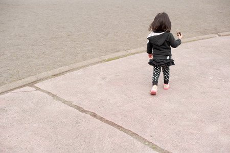 rear view: Rear view of child