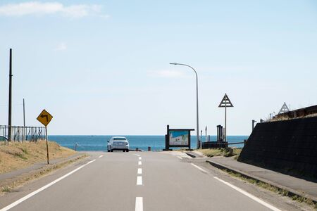 pulled over: Seaside road