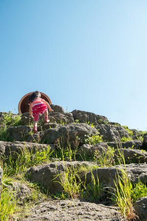 the crags: Children play in the playground of crags