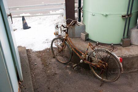 pulled over: Deserted road bike