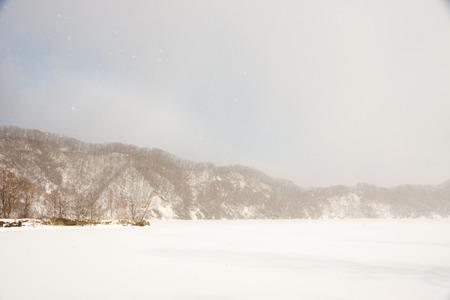 frozen lake: The frozen lake