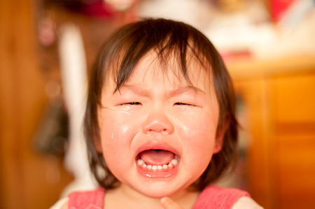 toddler girls: A crying child