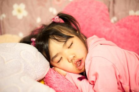 Sleeping child Stockfoto