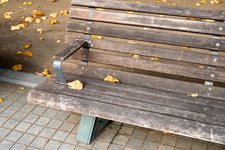 headrest: Bench Stock Photo