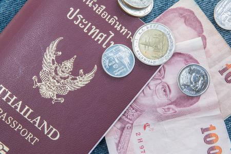 Passport and money photo
