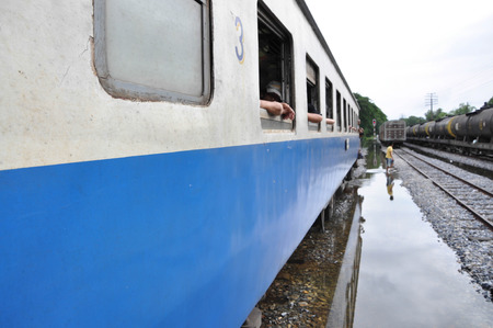 arduous: Flooding Make the arduous journey But the railroad That would be flooded as well.