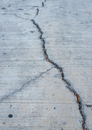 damaged cement: Non-standard cement roads are damaged.