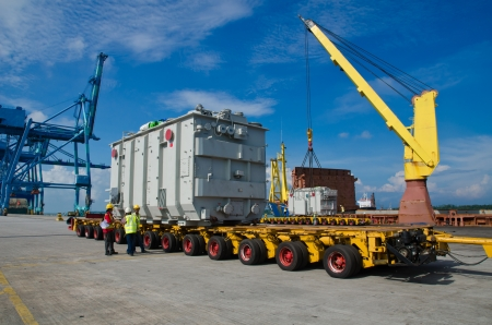 transporting a large transformer