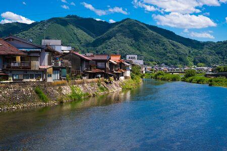 Niimistad bij Takahashi-rivier JAPAN