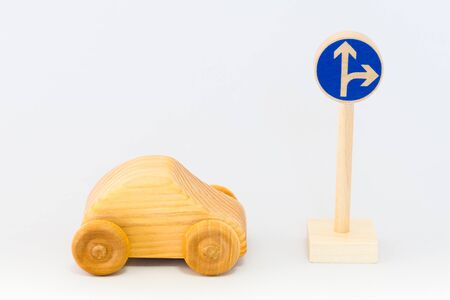 commissure: Traffic sign and car