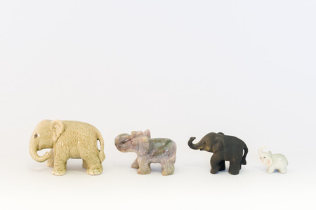 small articles: Ornament of the elephants Stock Photo