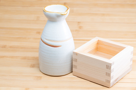 hinoki: Rice wine Stock Photo