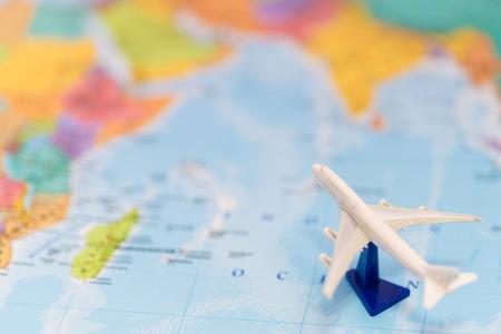 Reis met het vliegtuig Stockfoto
