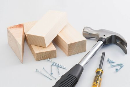 doityourself: Do-it-yourself carpentering tools Stock Photo