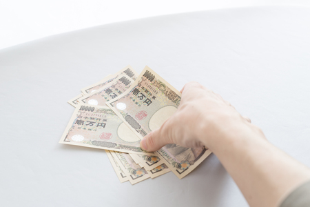 Image of the debt collection Stock Photo