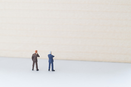 confrontation: Businessmen in confrontation with difficulty