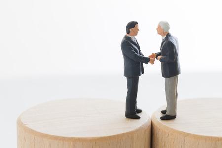 Businessmen having a business talk