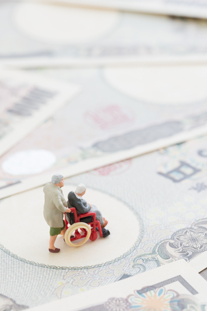 surgery expenses: Image of the old age life Stock Photo
