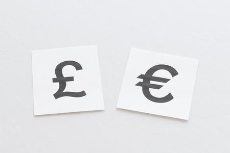 gb pound: Pound, euro Stock Photo