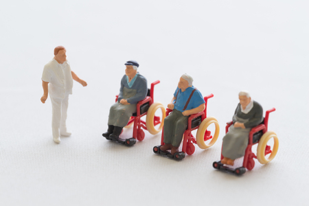 the elderly caregivers: The image that is short of caregivers Stock Photo