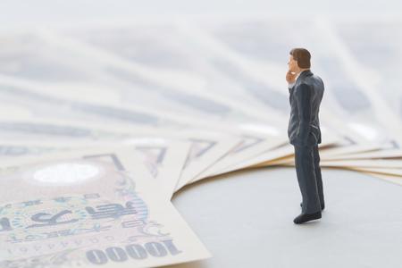 Money and businessman