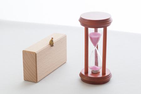 A hourglass and senior