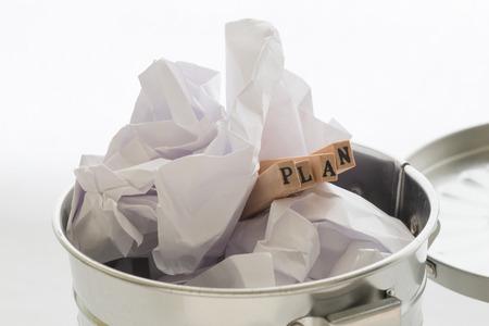fails: Plan fails Stock Photo