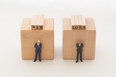 loser: Winner and loser Stock Photo