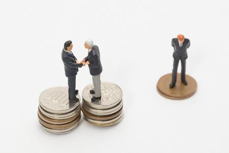 handshakes: Money and Businessmen