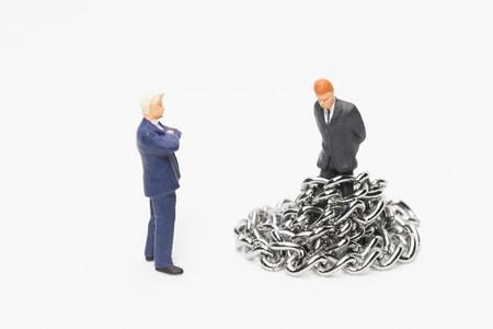 reprimand: Businessman that reprimand