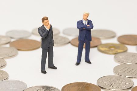 Money and businessmen
