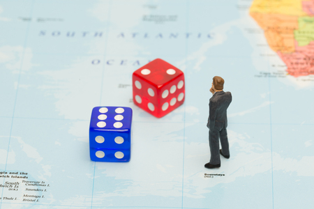 World Maps and Business opportunities Stock Photo