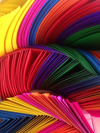 colorful: Lots of Colorful Paper