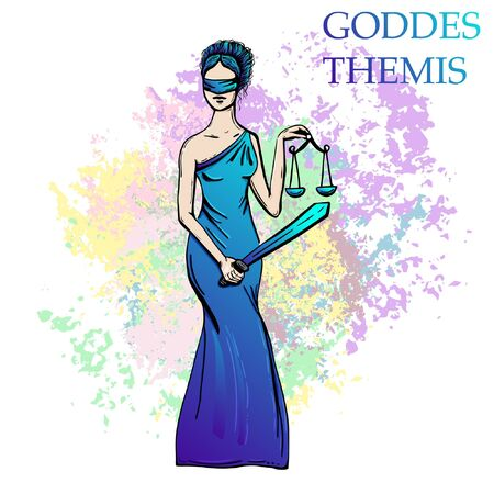 Ancient Greece statue of goddess Themis. Banque d'images - 129831255