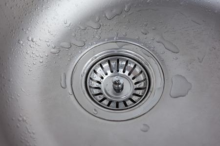 to sink: steel sink