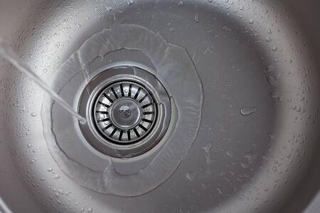 sink hole: Stainless steel sink plug hole