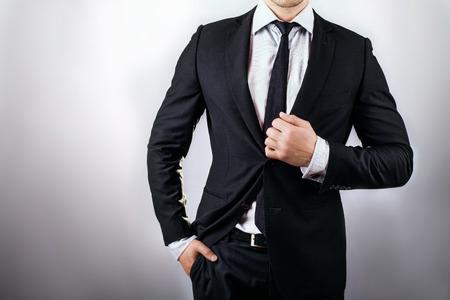 traje formal: el hombre en traje  Foto de archivo