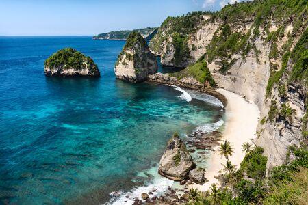 The beautiful diamond beach in Nusa Penida, Bali, Indonesia