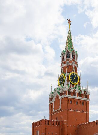 Spasskaya tower of the Kremlin. Russia.