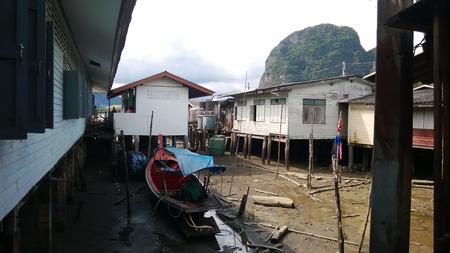 poorness: Muslim village Ko Panyi in dry season