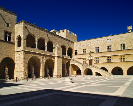 Medieval palace of the Grand Master of the Knights of Rhodes , also known as the Kastello.