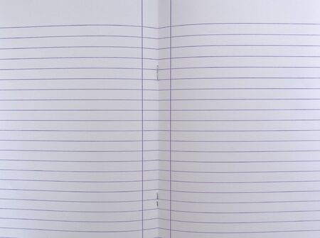 Isolated open blank notebook with lined papers.