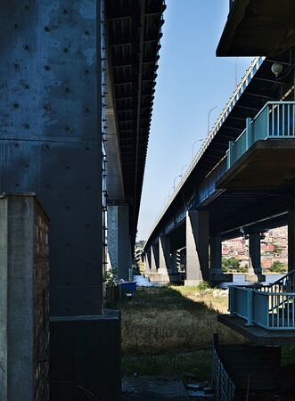 View under Galata bridge, Istanbul, Turkey.