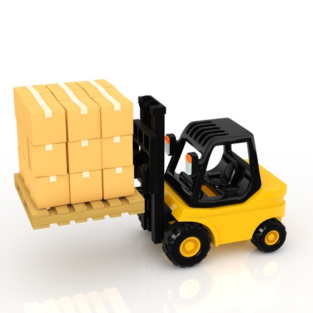 lifter: forklift Stock Photo
