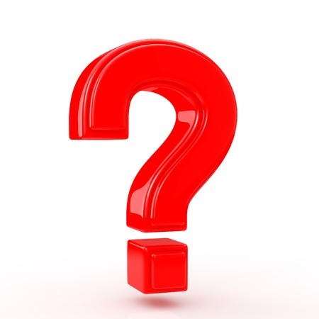 question mark icon: Red question mark